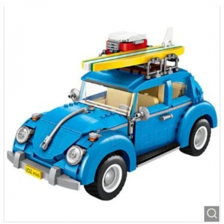 LOZ Multifunction Travel Car Building Block Toy Set - Dodger Blue