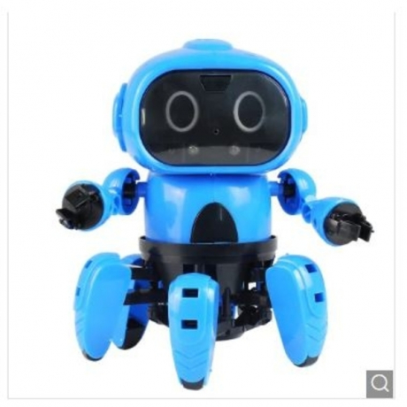 MoFun - 963 DIY Assembled Electric Robot Induction Educational Toy - Dodger Blue