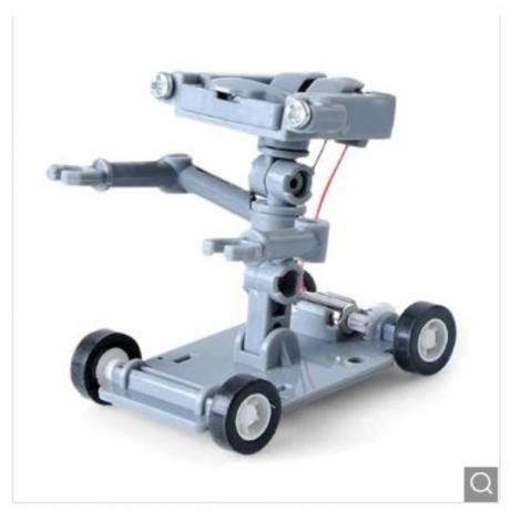 Salt Water Powered Robot Assembles Toys Kit Kids Gift - Gray