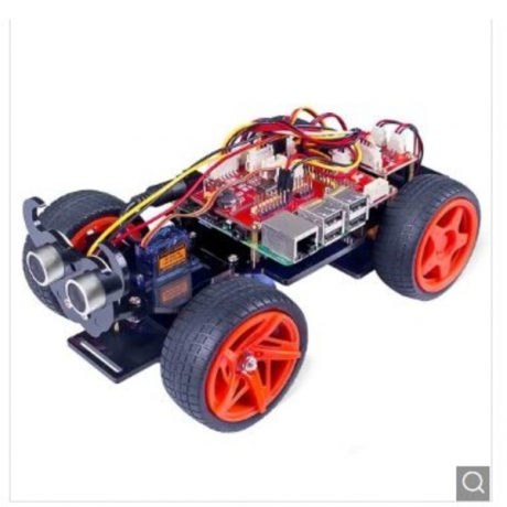 SunFounder Raspberry Pi Car DIY Robot Kit - Black