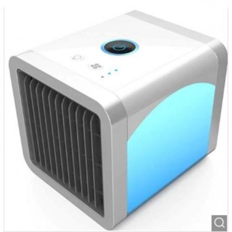 USB Mini Portable Air Conditioner Purifier Desktop Cooler Fan - Cool White