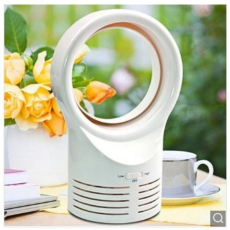 Electric Small Silent Bladeless Mini Fan - White