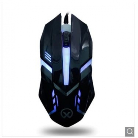 G813 Colorful Backlight USB Athletic Game Mouse - Black USB Port