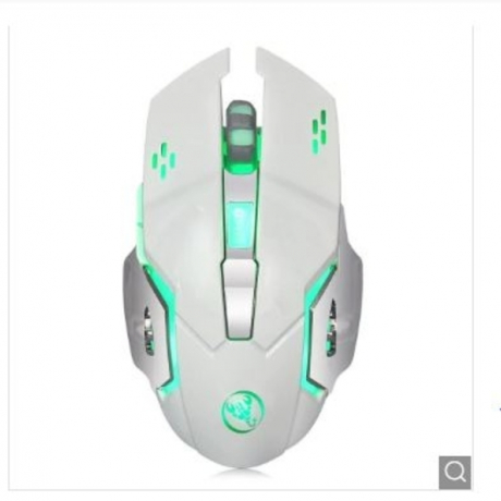 HXSJ M70 Rechargeable USB Wireless Mouse 7 Colors - Silk White