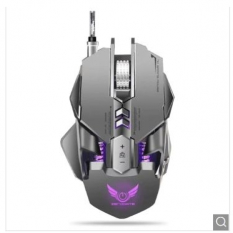 ZERODATE X300GY Wired Gaming Mouse with Adjustable DPI - Gray