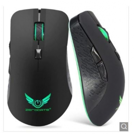 ZERODATE X90 Wireless Rechargeable Mouse - Black