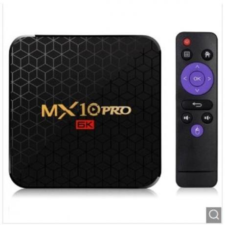 MX10 Pro 6K TV Box Android 9.0 - Black 4GB RAM+32GB ROM EU Plug
