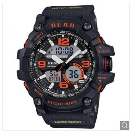 READ R90001 Men Business Waterproof Leisure Quartz Watch - Orange