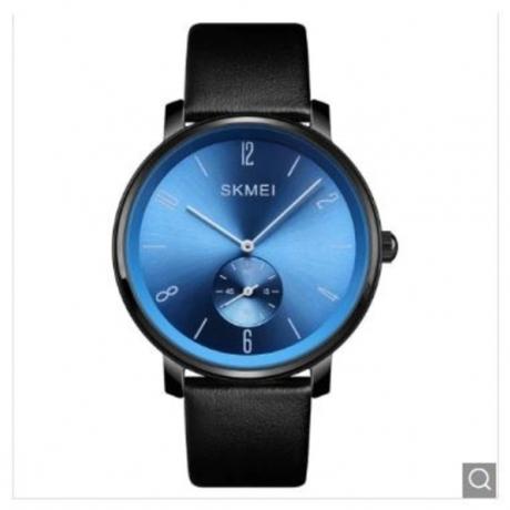 SKMEI New Fashion Quartz Casual Men Luxury Genuine Ultrathin Watch - Blue