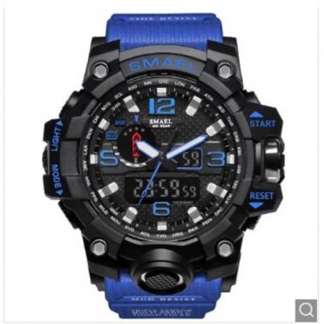 SMAEL Men's Sports Outdoor Waterproof Watch - Deep Blue