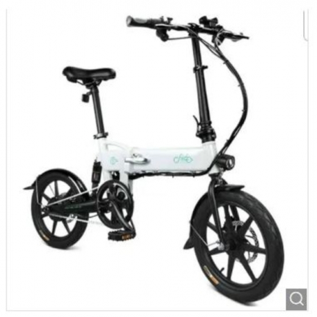 FIIDO D2 Smart Folding Moped Electric Bike Bicycle Double Disc Brakes Awesome - White Poland