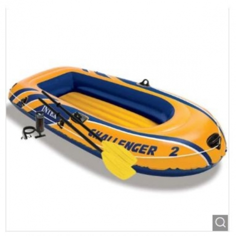 intex Challenger 2 Set Inflatable Boat with Oars and Pump - Germany Challenger 2