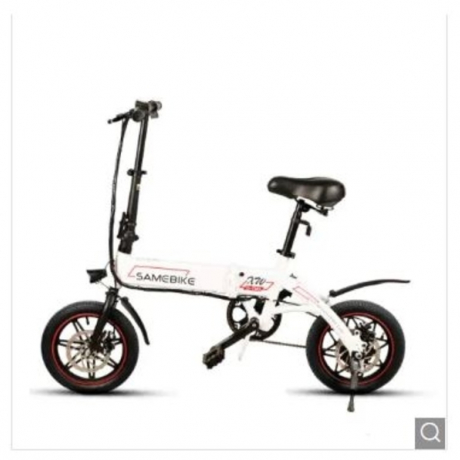Samebike YINYU14 Smart Folding Bicycle Moped Electric Bike E-bike - White EU plug Poland