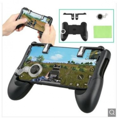 Gamepad Trigger Fire Button Aim Key Smart phone Mobile Games Controller For PUBG Stand - Black