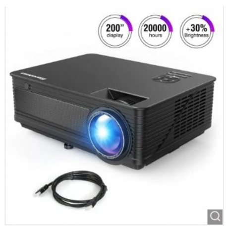 Excelvan M5 LED Projector Support Full HD 1080P HDMI Home Theater Connect With PS4 iPhone iPad - United States