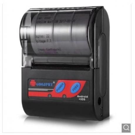 GOOJPRT MTP - II Portable 58MM Bluetooth Thermal Printer - Black US Plug