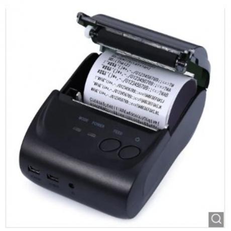 ZJ - 5802LD Mini Bluetooth 2.0 3.0 4.0 58mm Thermal Receipt Printer - Black EU Plug