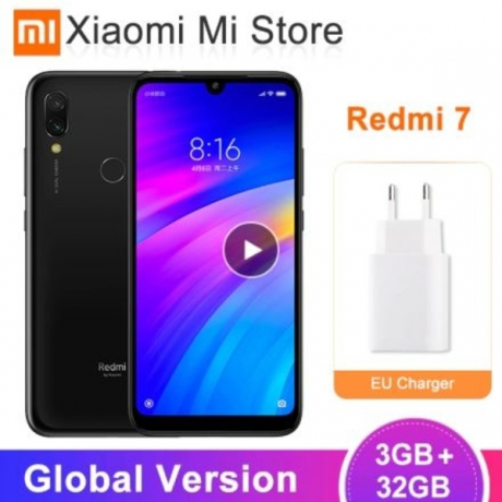Global Version Xiaomi Redmi 7 3GB 32GB 4000mAh Mobile Phone Snapdragon 632 Octa Core 12MP AI Dual Cameras 6.26