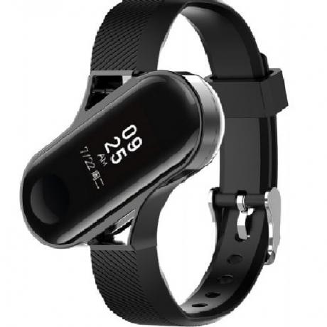 Fashion Watch Strap for Xiaomi Mi Band 3 - Black