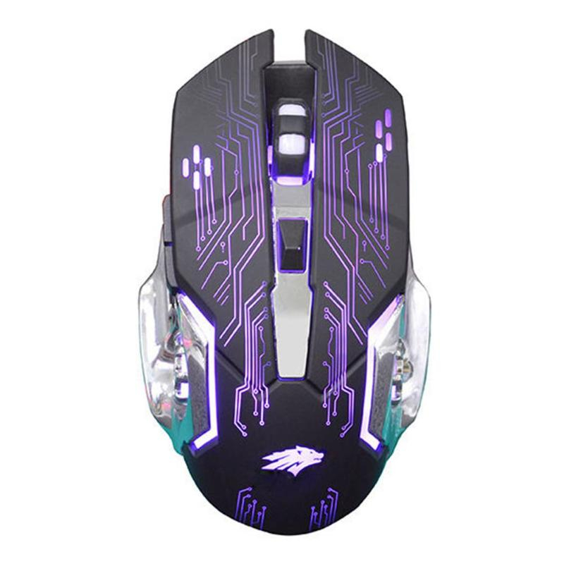Adjustable 1200 dpi USB Wired Optical Gaming Mice Mouse For PC Laptop Black