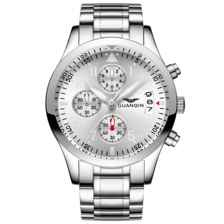GUANQIN GS19064 Men Quartz Watch - White