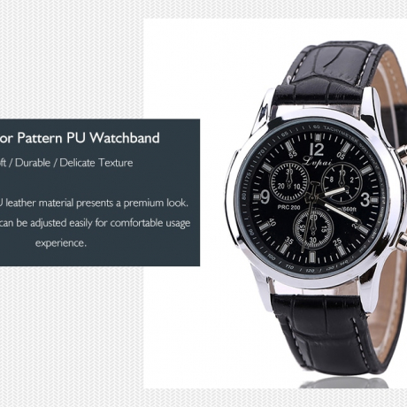 Lvpai P647 Men Pattern PU Leather Fashion Watch - Multi-P