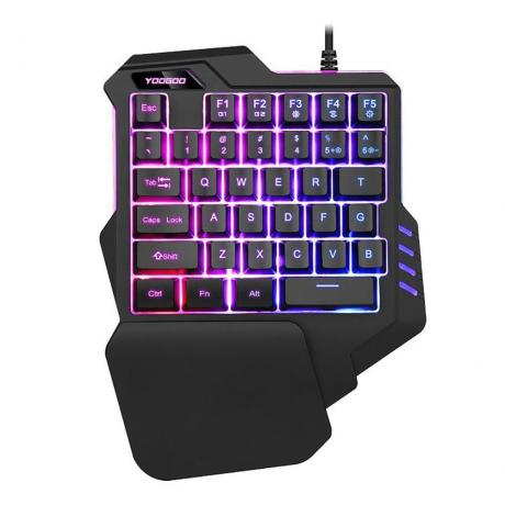 G92 35 Keys Backlight One Hand USB Wired Gaming Keypad Keyboard with Wrist Pad