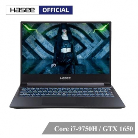 Hasee Z7M-CT7NA Laptop for Gaming(Intel i7-9750H+GTX1650 4GGDDR5/8G RAM/512G SSD/DOS/15.6''IPS)Hasee notebook