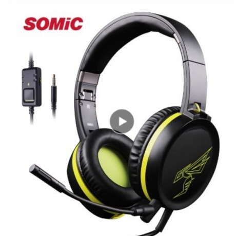 SOMIC G801 PS4 Gaming Heaset for Xbox One Foldable Stereo Headphone with Detachable Mic 3.5mm Jack for Laptop phone