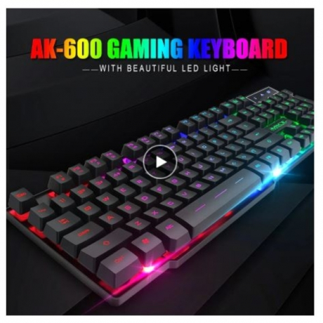 iMice Gaming Keyboard 7 Colors LED Backlit USB Wired Gamer Keyboard Professional Gaming Keyboard for PC Desktop Laptop Computer