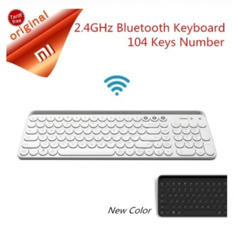 Original Xiaomi Miiiw Bluetooth Dual Mode Keyboard MWBK01 104 Keys 2.4GHz Multi System Compatible Wireless Portable Keyboard