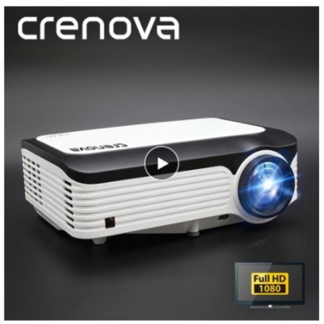CRENOVA Newest Video Projector With Full HD 1080p Native Resolution For Home Cinema Movie Android Projector With Android 7.1.2