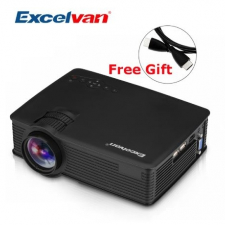 Excelvan GP9 EHD09 Mini LED Projector 800x480pixels Support 1080P 1800 Lumens Home Cinema HDMI/USB/SD/AV/3.5mm GP-9 Proyector