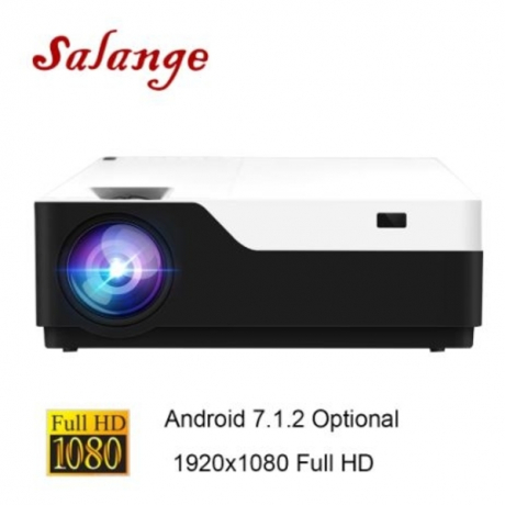 Salange M18 1920x1080 Real Full HD Projector 200 inch Android 7.1 HDMI USB Proyector For Game Movie Home Theater Support AC3