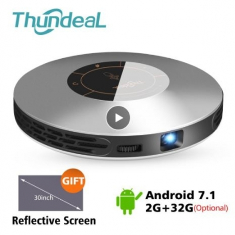 ThundeaL DLP Projector T18 Update to T18 Max WiFi Android 7 Pico Pocket HDMI for 4K 16G 32G Mini LED Proyector 3D T18MAX Beamer