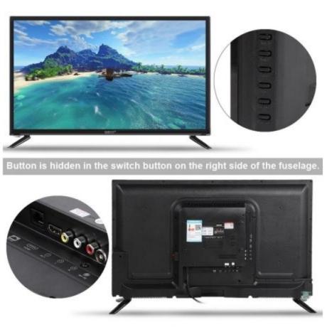 32-inch HD LCD TV Supports USB HDMI RF Antenna Input Home TV 110-240V Black