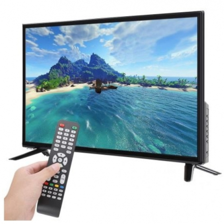 43 Inch HD LCD Television DVB-T2 1080P Flat Screen LCD Home Theater Smart TV 75W 60HZ HDR Real-time Conversion with HDMI/USB/RF