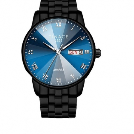 TINACE Men Luxury New Design Creative Glass Crystal Dress Watch - Cobalt Blue