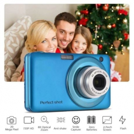 24MP Gifts Digital Camera Lithium Battery Optical Zoom Photo Portable Anti-shake Compact High Definition Colorful Video Record