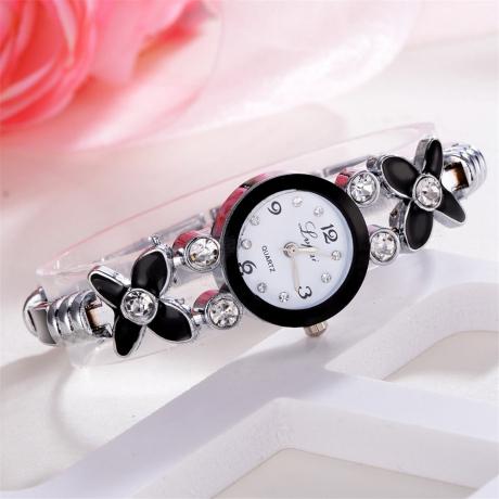 Lvpai Fashion New Women Quartz Waterproof Steel Belt Diamond Bracelet Watch - Multi-C