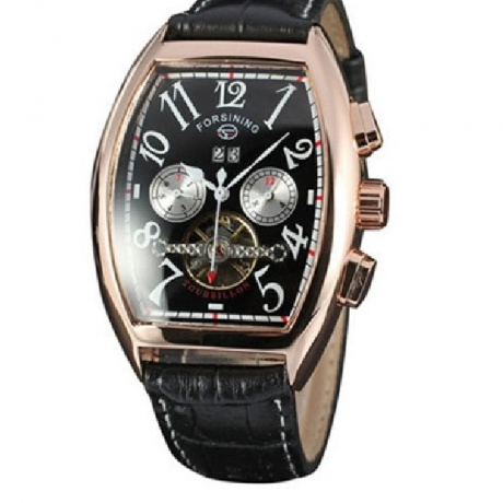 Forsining Men Square Dial Date Automatic Mechanical Watch - Multi-A