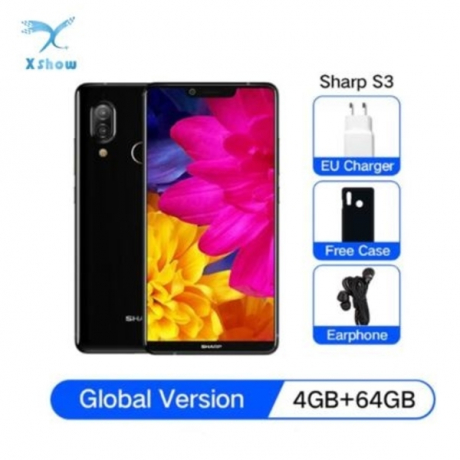 Global Version SHARP AQUOS S3 4G LTE Smartphone 4GB 64GB Snapdragon 630 2.2GHz Octa Core 5.99