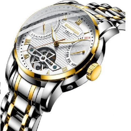Guanqin GH17002 Steel Mechanical Watch - Multi-A
