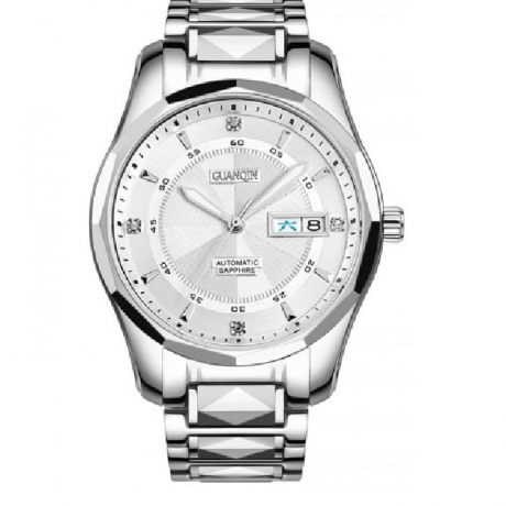 GUANQIN GJ16013 Men's Mechanical Watch Automatic Waterproof Tungsten Steel - White