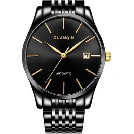 GUANQIN GJ16056 Male Business Single Calendar Automatic Mechanical Watch - Black