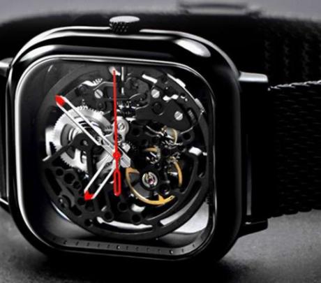 Hollow Mechanical Watch from Xiaomi Youpin - Black