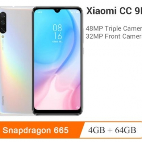 Original Xiaomi Mi CC9e 4GB RAM 64GB ROM Mobile Phone Snapdragon 665 Octa Core 48MP+32MP Camera 6.088