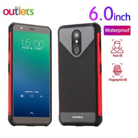 Waterproof Smartphone 2019 New 6.0 Inch IP68 Quad Core 2GB+16GB Android 8.1 Face ID fingerprint Mobile Phone Konka RU1
