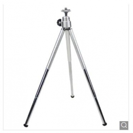 Copper Tube Three-section Tripod Fishing Lamp Camera Bracket Mobile Phone Live Bracket - Silver Gray