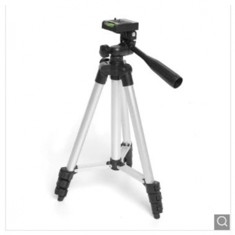 Three-way Head Lightweight Camera Tripod 35cm-105cm - Silver